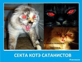 Секта котэ - сатанистов с красными глазами - Сектовасия