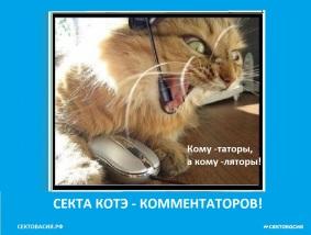 Секта-котэ комментаторов России